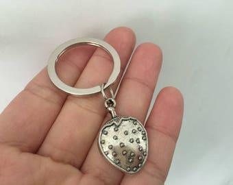 Strawberry keychain, Strawberry gifts key ring
