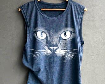 I Like Cat Shirt Cat Shirt Meow Tank top Shirt Muscle Tank Top Womens