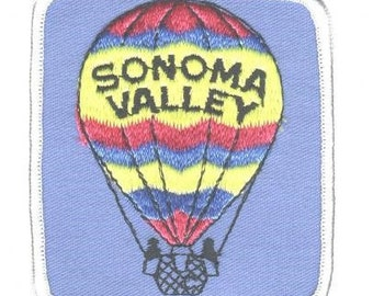 Sonoma Valley Hot Air Balloon Patch (Iron on)