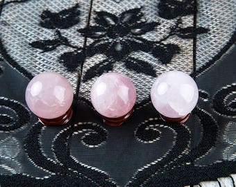 Rose Quartz Sphere | Rose Quartz Ball | Crystal Sphere | Stand Included | Pink Quartz Sphere | Scrying Ball | Crystal Ball | Gemstone Sphere