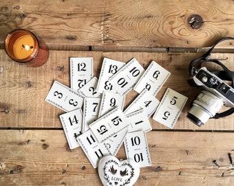 Vintage Flinch Game Cards, Set of 15, Vintage Number Cards, Wedding Table numbers, Junk Journal Paper Ephemera, Craft Supplies, Vintage Card