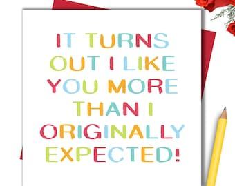 Card For Husband Wife Boyfriend Girlfriend Partner Card Anniversary Card Valentines Card Valentine's Card Birthday Card Christmas Card