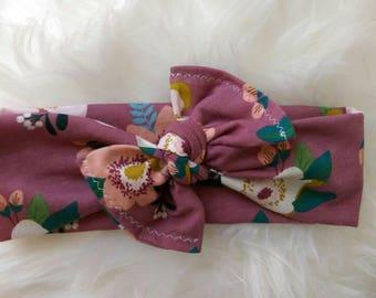 Floral top knot headband