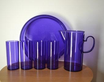 Vintage DANSK Gunnar Cyren Purple Drink Serving Set