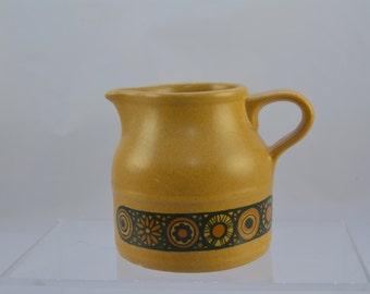 Kiln craft 'Bacchus' milk jug, classic 1970s look, brown and mustard yellow