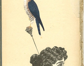 Perch. Original collage by Vivienne Strauss.