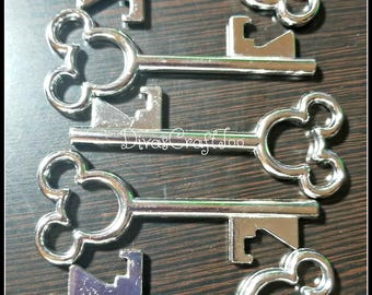 Silver Mickey Mouse Key Bottle Openers - Fish Extender Gifts - Rounded - Set of 5 - READY TO SHIP