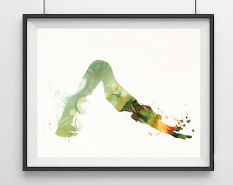 Yoga Watercolor painting Yoga pose print Yoga Artwork Yoga posture Art Yoga Poster Yoga wall decor Wall hanging Home art decor Yoga gift- 15