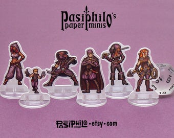 Player Character Rogues 28mm Role-playing Game Miniatures