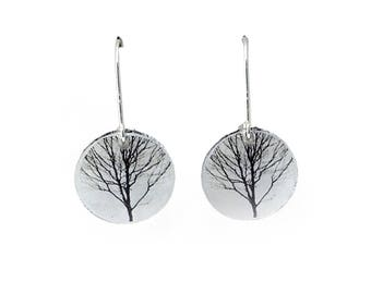 Round Tree Earrings