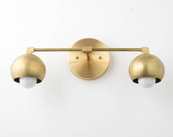 Superbe Vanity Lighting Home   Brass Bathroom Light   Mid Century Bathroom  Brass  Sconce Light