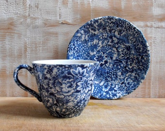 Coffee Cup and saucer Geneviève Lethu - promise - Grindley England