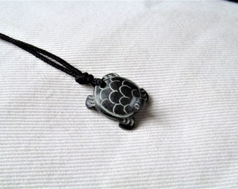 Hand Carved Turtle Pendant