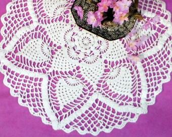 Cotton Crochet Doily Pattern, Table Mat, Pineapple Centerpiece