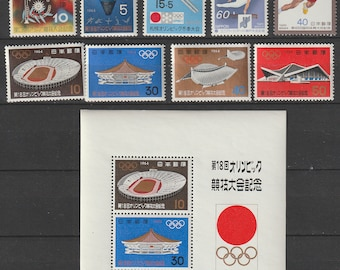 Japan Sport Olympic, stamps original gum MNH not hinges from,  sixties and seventies, 25p 1 sheet