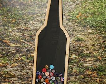 Beer Cap/Ale/Lager/IPA/Bottle Cap Holder/Bottle Cap Display/Bottle Shape/Beer/Bar Decor/Christmas Gift/Man Gift/Bottle Cap Collector