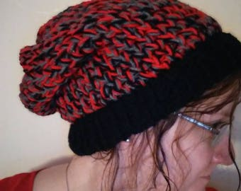 Colorful slouchy hat!