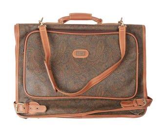I SANTI Vintage Paisley Canvas GARMENT Carrier Bag Travel Suit Cover