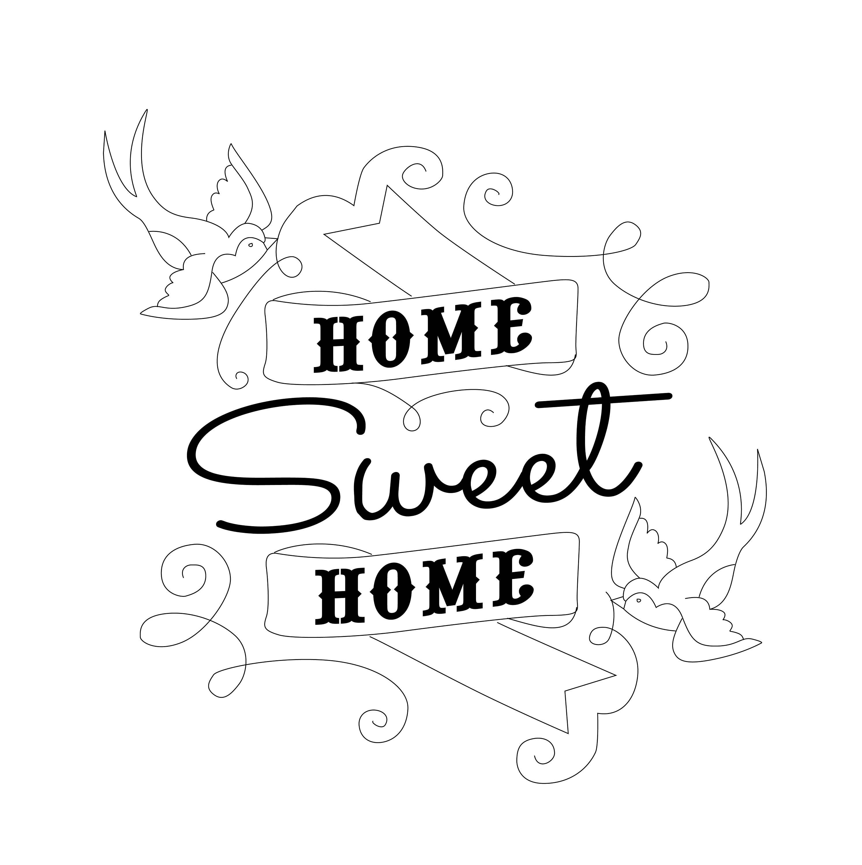 Erstaunlich Wandtattoo Home Sweet Home Beste Wahl 🔎zoomen