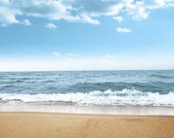 Sea Beach Photography Backdrop, Children Newborns Photography background, seaside natural landscrape photo drops D-7966