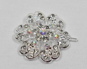 Clear/AB Rhinestone crystal Hair pin,Wedding bridal hair clip, Rhinestone Hair clip, wedding cake accessories, DIY Supply, Hair Accessories