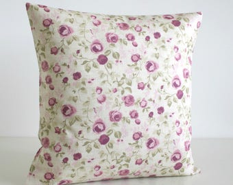 Shabby Chic Pillow Cover, Floral Cushion Cover, Floral Pillow Sham, Pillow Cover, Throw Pillow Cover - Mini Flowers Heather