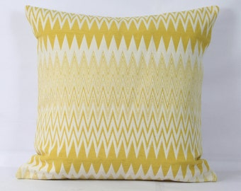 Yellow throw pillow case zig zag pillow covers 16 x 16 yellow decorative pillows 20x20 yellow pillow cover 18x18 inch pillow cover 26 x 26