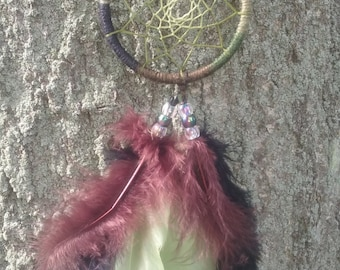 3in Rearview Mirror Dreamcatcher, Camo Dreamcatcher, Custom made in any color you choose, Camo Re