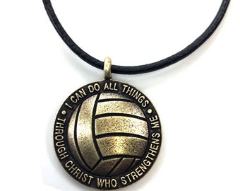 Brass Volleyball necklace
