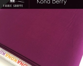 Kona cotton solid quilt fabric, Kona BERRY 1016, Kona fabric, Solid fabric Yardage, Kaufman, Wine fabric, Choose the cut