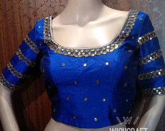 Designer gota patti saree blouse