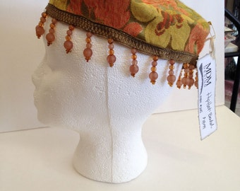 Upcycled Fabric Beaded Homemade Hip-Hat