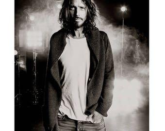 Chris Cornell B&W, Soundgarden, Seattle 2012