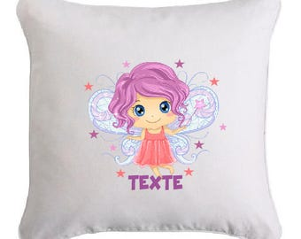 SMALL fairy pillow personalized with text of your choice