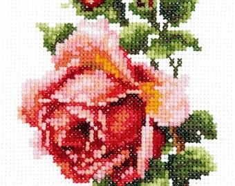 Cross Stitch Kit Rose