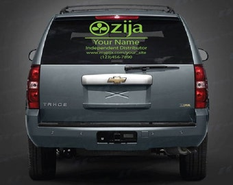 Personalized Zija Decal for your business