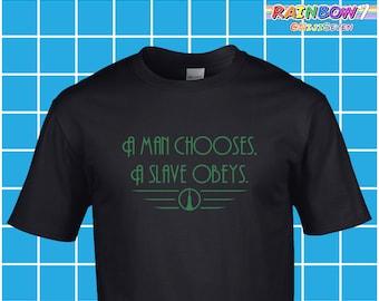 Various Colours - 'A Man...' Quotes - Vinyl - Premium Cotton BioShock T Shirt - Andrew Ryan
