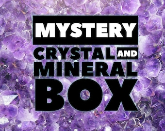 Mystery crystal box, crystal box, crystal subscription, mystery box, suprise box