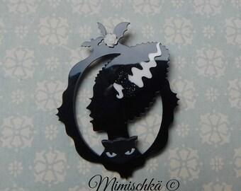 brooch bats frankenstein bridegroom black cat