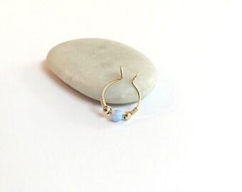 Fake septum ring, faux septum ring, opal fake septum ring gold, fake piercing, opal piercing, fake septum piercing, opal septum jewelry