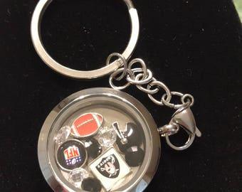 Los Angeles Raiders Floating Charm keychain