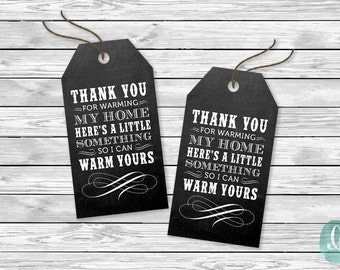 Housewarming Party Favor Tag Housewarming Party Invitation