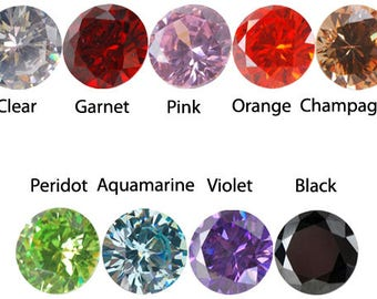 Cubic Zirconia CZ Gemstone loose for Metal Clay PMC and prong setting