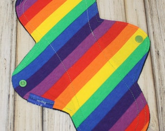 "11"" regular front flow cloth pad/ cloth pad/ cloth pads/ regular/ front flow/rainbow/ made by mother"