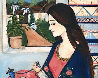 11x14 PRINT our lady undoer of knots folk art