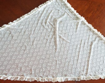 Vintage Ivory Colored Lace Shawl