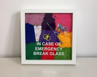 Crochet Gift, Fibre Art, Yarn Gift, Humorous Funny, Joke Gag Gift, Framed Wall Art, Crochet Addict, For Spinner Weaver, Crochet Kit