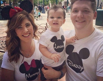 Mickey inspired Mens Personalized Shirt