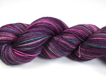 Funky Jive--hand dyed sock yarn, Yak, Merino and Nylon, (437yds/100gm)
