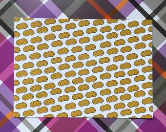 Potato Repeat Pattern Postcard Print
